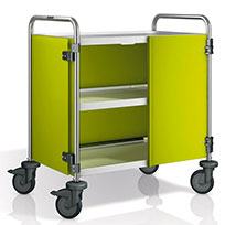 BLANCO serving trolley with lime-coloured panelling