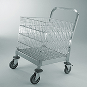 Basket transport trolleys