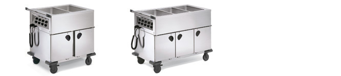 SAG 3 Trolleys with heatable compartments