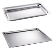 Stainless-steel GN trays